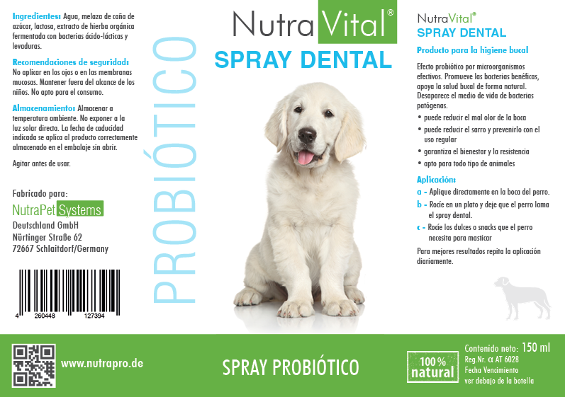NutraPro®Care DENTALSPRAY 150ml botella